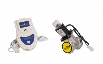 Detector de gaz cu electrovalva