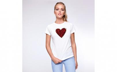 Tricou Femei Big Heart, Bumbac 100%,