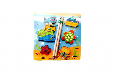 Puzzle incastru/Joc pescuit magnetic  8