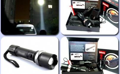 Lanterna Police Q5 cu led si zoom
