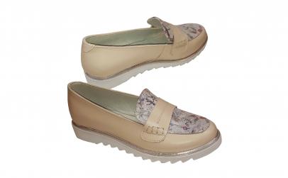 Pantofi dama primavara negri si crem