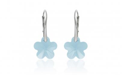 Cercei Flower Lever Mini Aquamarine