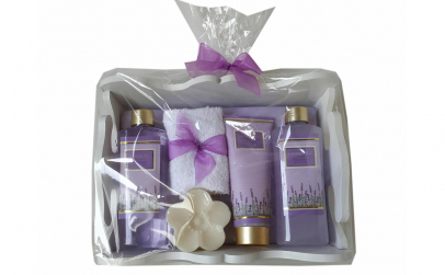Set cadou in cutie alba cu 5 produse aro