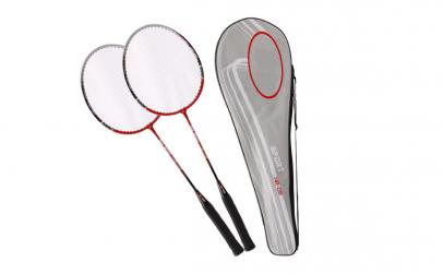 Set Badminton: 2 Rachete + 6 fluturasi