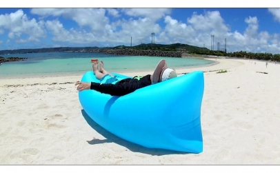 Saltea gonflabila de plaja si relaxare
