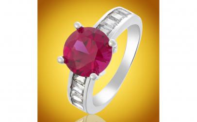 Inel Luxury Red Brilliant