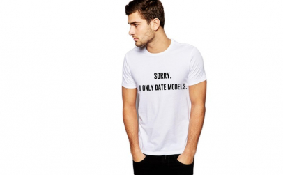 Tricou alb barbati - Sorry, i only date