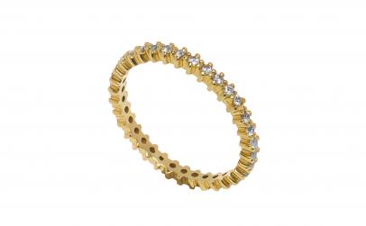 Inel din aur galben 14K, model Infinity
