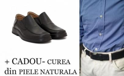 Pantofi Epa din piele + curea
