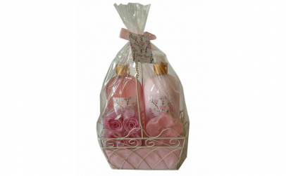 Set cadou cu 4 produse aroma trandafir
