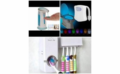 Pachet dozator sapun + lampa WC