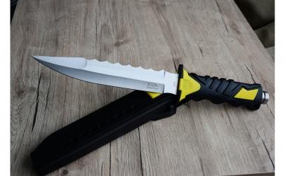 Cutit baioneta 34 cm - cu teaca PVC