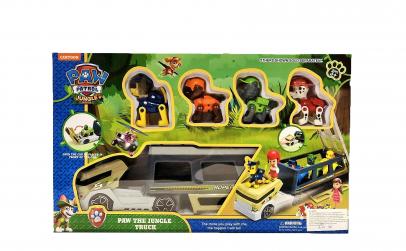 Camionul junglei cu tobogan si figurine