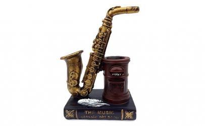 Saxofon cu suport pentru pixuri, 615E