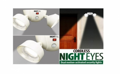Set becuri LED pivotante cu senzor