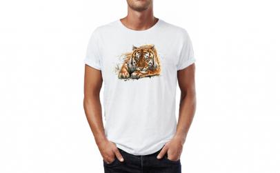 Tricou barbati Tiger , Bumbac 100%,