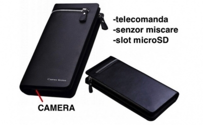 Portofel cu camera video spion