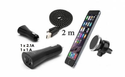 Suport magnetic+incarcator auto+cablu