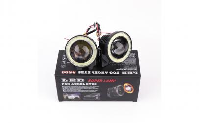 Proiectoare auto cu LED Angel Eyes 76mm