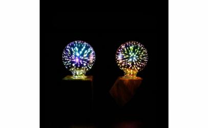 Bec 3D cu proiectie de artificii