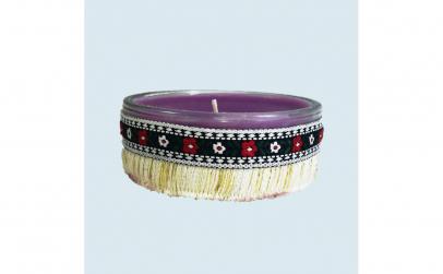 Lumanare decorativa parfumata in borcan