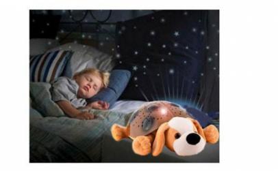 Veioza muzicală proiector Puppy Pillow