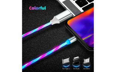 Cablu de incarcare magnetic fibra optica