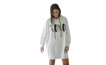 Bluza lunga dama XOXO , alba