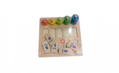 Joc lemn montessori, Numere si forme,