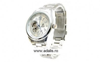 Ceas Goer Heart Black sau Silver, Automatic, la 109 RON in loc de 249 RON