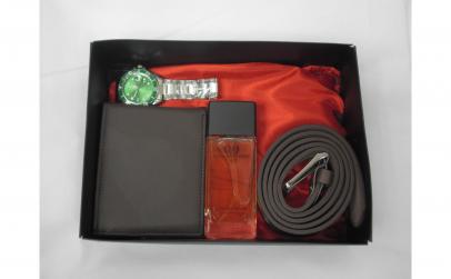 Set cadou cu ceas verde, parfum