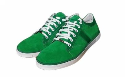 Tenisi verzi, din piele naturala