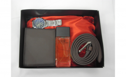 Set cadou cu ceas elegant, parfum