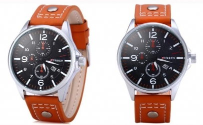 Ceas CURREN Casual Orange , afisare data