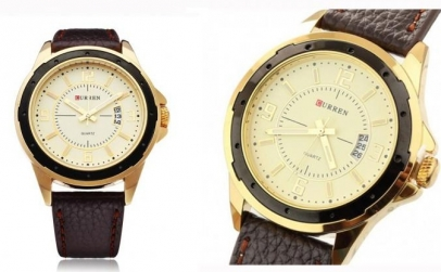 Ceas CURREN casual Gold Edition