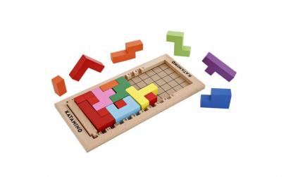 Puzzle din lemn, Tetris 3D,18 piese