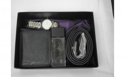 Set cadou cu ceas, parfum, portofel