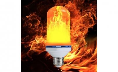 Bec LED cu efect de flacara