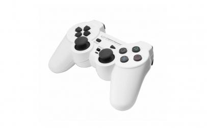 Controller cu vibratii, PC/PS2/PS3, Alb