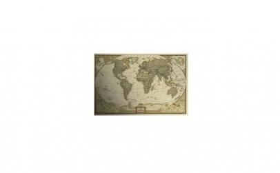 Harta Lumii de perete vintage, 71x47 cm