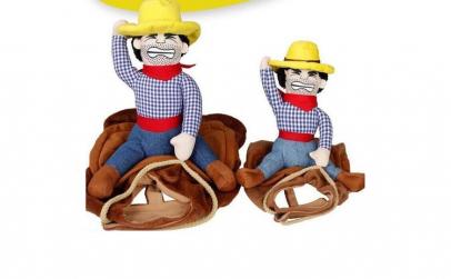 Costum pentru catei cowboy, marime S,