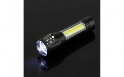 Mini Lanterna LED 1W+1W COB LED cu Zoom