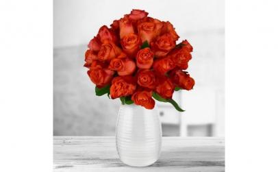 Buchet de 29 trandafiri portocalii