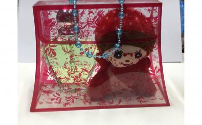 Set dama parfum si ursulet rosu