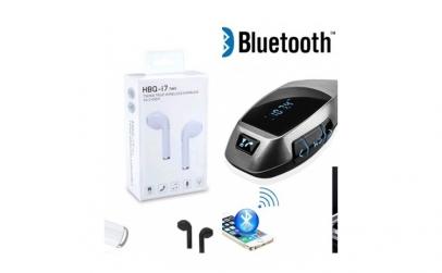 Modulator FM + cadou Casca Bluetooth