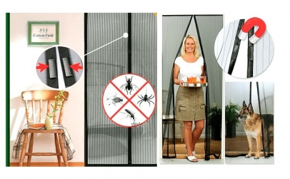 Set 3 perdele magnetice anti-insecte