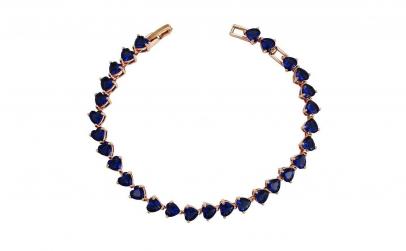 Bratara Luxury Hearts Sapphire
