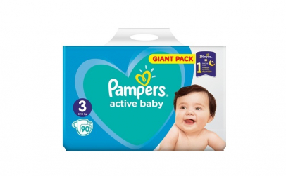 Scutece Pampers Active Baby 3 Giant