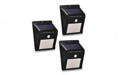 Set 3 Lampi Solare cu 20 LED, senzor de
