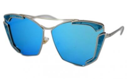 Ochelari de soare Rectangular Bleu